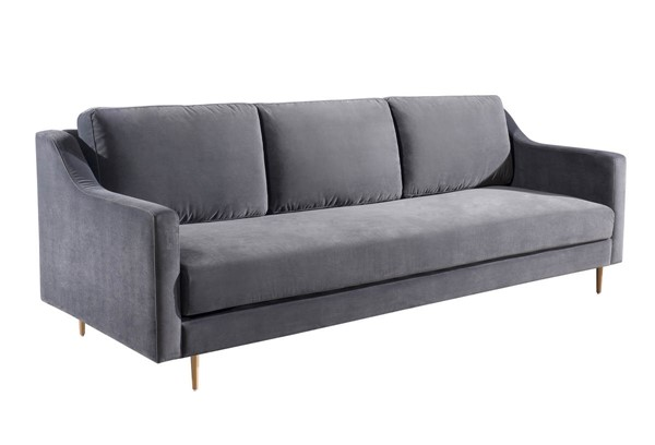 TOV Furniture Milan Grey Velvet Sofa TOV-L4111