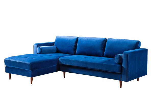 TOV Furniture Como Navy Velvet LAF Sectional TOV-L4124-L4126