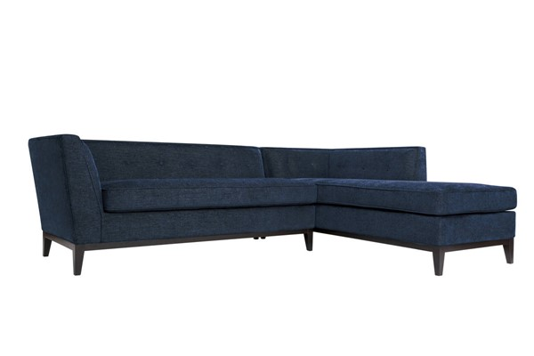 TOV Furniture Jess Navy Textured Linen RAF Sectional TOV-L4912