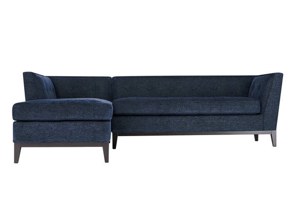 TOV Furniture Jess Navy Textured Linen LAF Sectional TOV-L4913