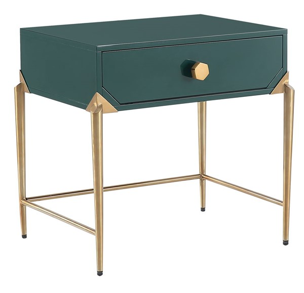 TOV Furniture Bajo Green Lacquer Side Table TOV-L5530