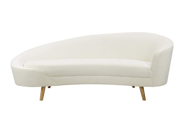 TOV Furniture Cleopatra Cream Velvet Sofa TOV-L6429