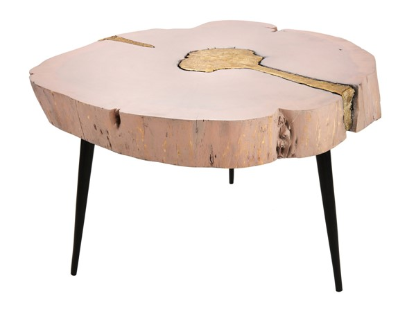 TOV Furniture Timber Pink Brass Cocktail Table TOV-OC18168
