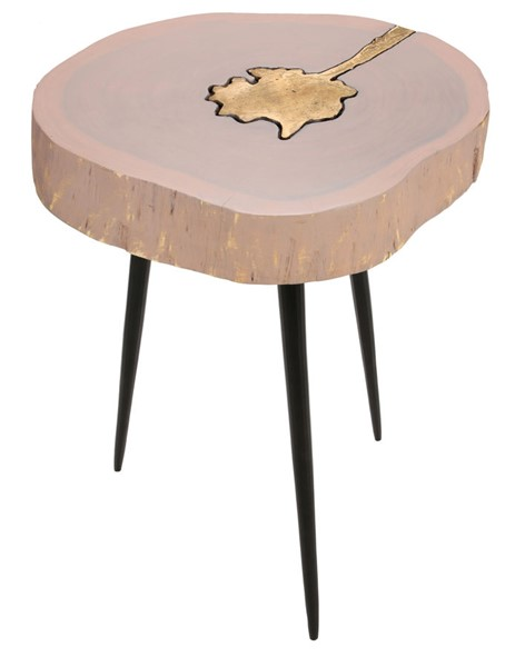 TOV Furniture Timber Pink Brass Side Table TOV-OC18170