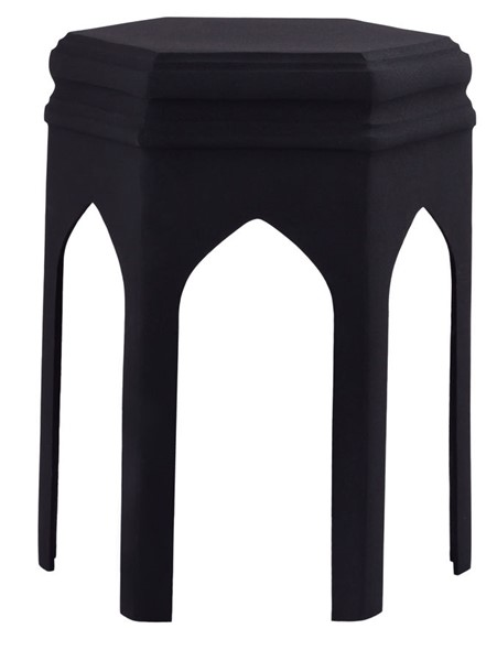 TOV Furniture Fes Black Textured Side Table TOV-OC18228