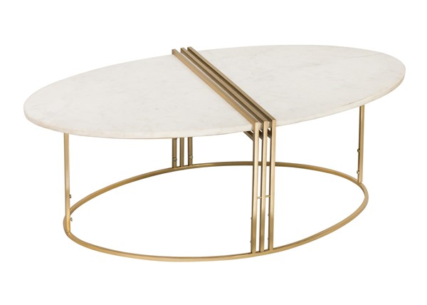 TOV Furniture Caleb White Gold Oval Cocktail Table TOV-OC18281