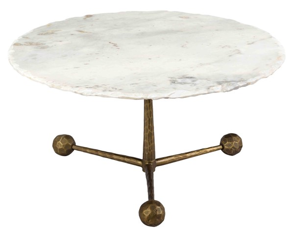 TOV Furniture Orbital Antique Brass White Marble Cocktail Table TOV-OC18292
