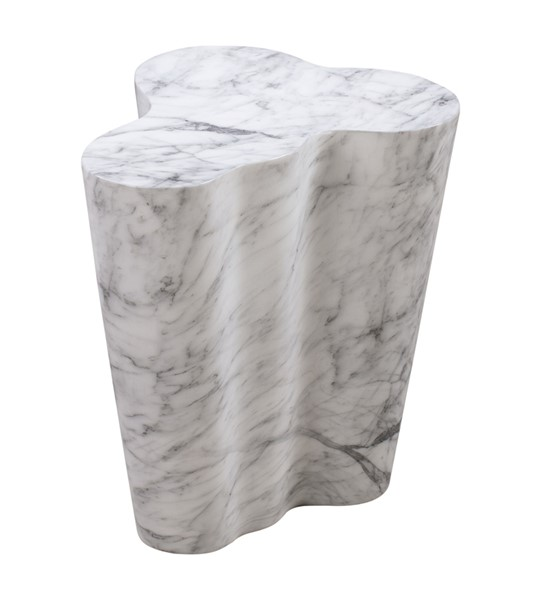 TOV Furniture Slab White Marble Tall Side Table TOV-OC44038