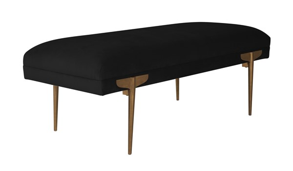 TOV Furniture Brno Black Velvet Bench TOV-OC6209