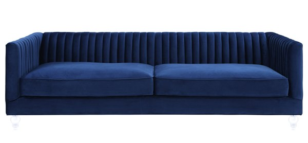 TOV Furniture Aviator Navy Velvet Sofa TOV-S101