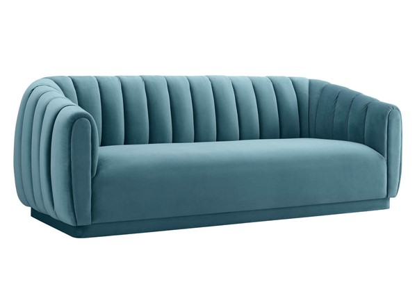 TOV Furniture Arno Sea Blue Velvet Sofa TOV-S165