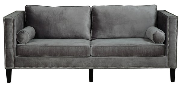 TOV Furniture Cooper Grey Velvet Sofa TOV-S29