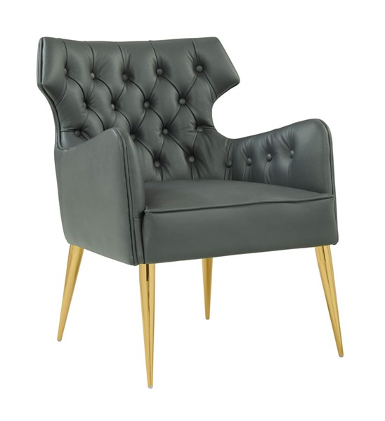 TOV Furniture Elsa Grey Vegan Leather Chair TOV-S4928