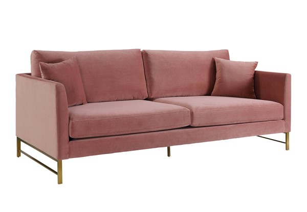 TOV Furniture Massi Rose Velvet Sofa TOV-S6165