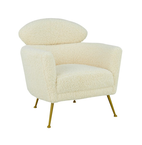 TOV Furniture Welsh Beige Faux Shearling Chair TOV-S6409