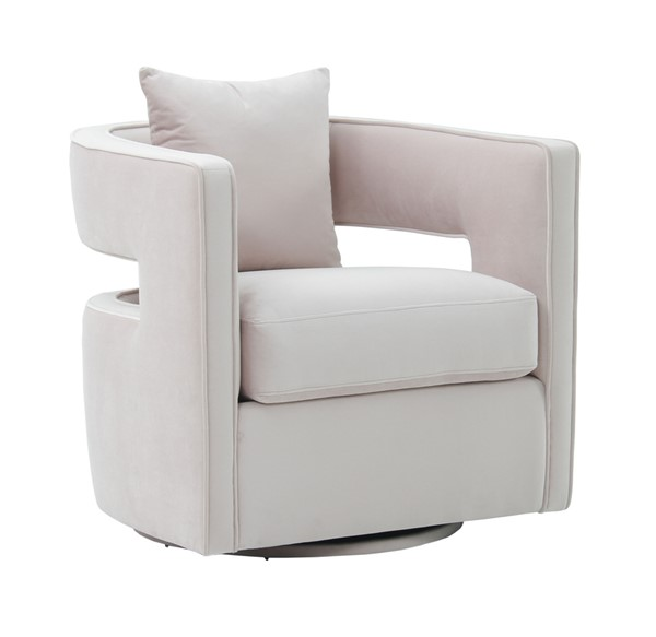 TOV Furniture Kennedy Blush Velvet Swivel Chair TOV-S6493