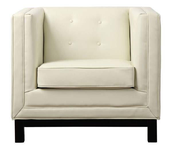 Zoe Cream Grey Bonded Leather Tufted Seat Chairs TOV-ZOE-CH-VAR