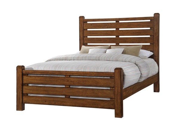 Lane Furniture Logan Barley King Panel Bed UNI-1022-66-52-68