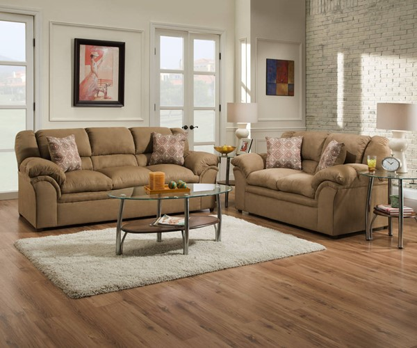 United Furniture Venture Latte 2pc Living Room Set