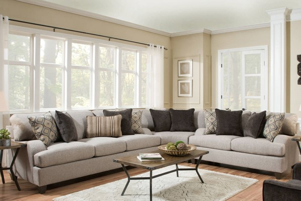 United Furniture Simmons Lennox Sterling Sectional UNI-4002BR-SEC2