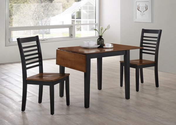United Furniture Chelsea Ebony Drop Leaf 3pc Dining Room Set UNI-5004-53