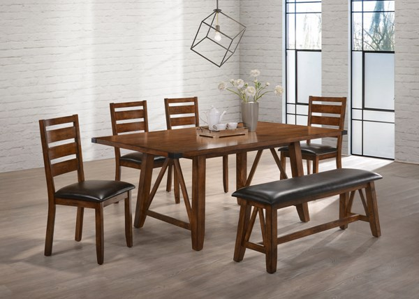 United Furniture Logan Oak Dining Room Set UNI-5022-DR