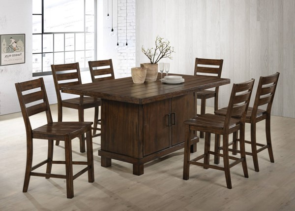 United Furniture Taos Burnished Oak 7pc Counter Height Set UNI-5031-BAR-S1