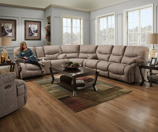 United Furniture Simmons Palermo Shale Power Double Motion