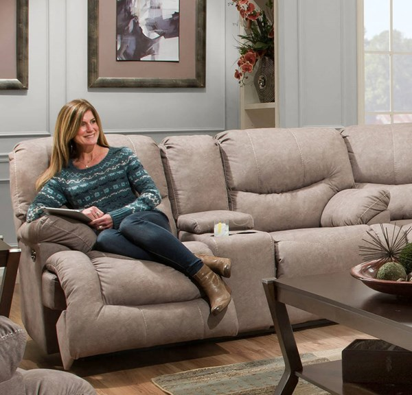 United furniture simmons palermo shale double motion for Shale sofa bed