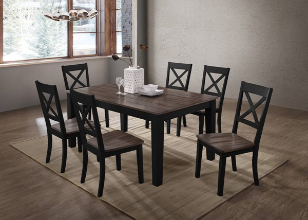 United Furniture A La Carte Black 7pc Dining Room Set UNI-5058-DR-S2
