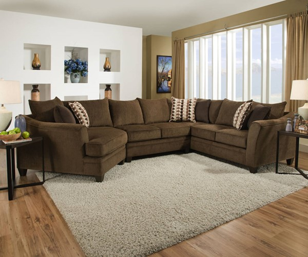 Lane Furniture Albany Chestnut Sectional UNI-6485-Albany-SEC-S2