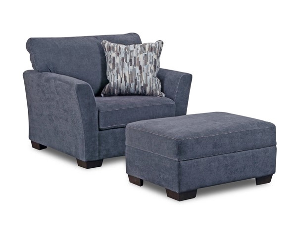 United Furniture Pacific Steel Chair And Ottoman Set The