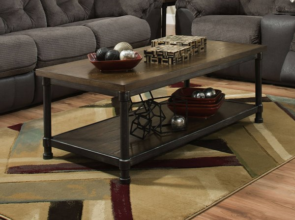 United Furniture Rustic Oak Rectangle Cocktail Table UNI-7320-45