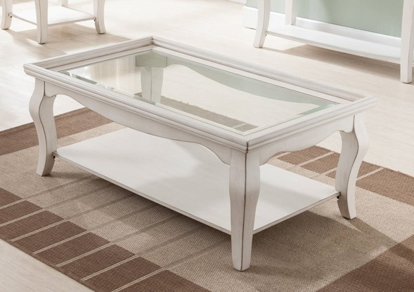 United Furniture Buttermilk White Rectangular Cocktail Table UNI-7564-45