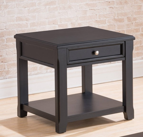 United Furniture Black End Table UNI-7572-47