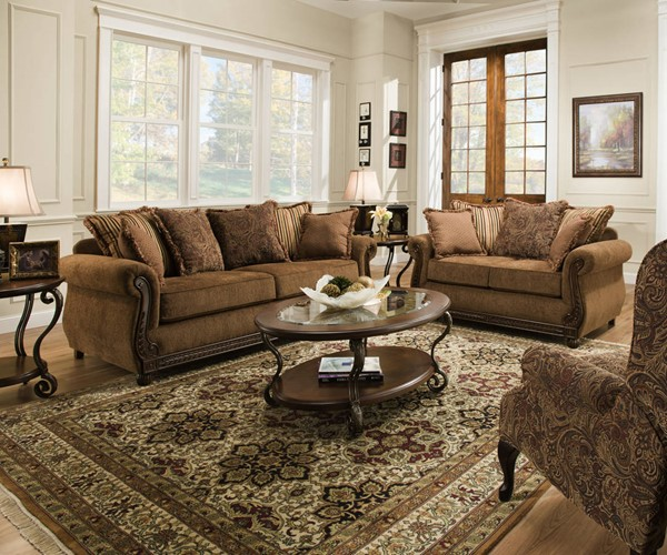 United Furniture Outback Chocolate 2pc Living Room Set