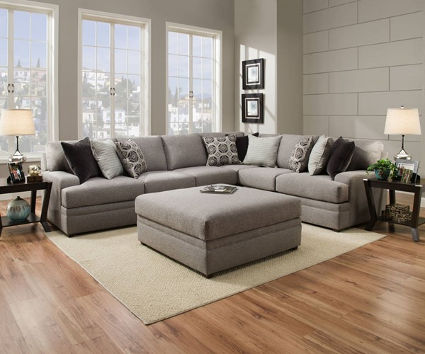 United Furniture Simmons Dublin Briar Sectional UNI-8561BR-SEC
