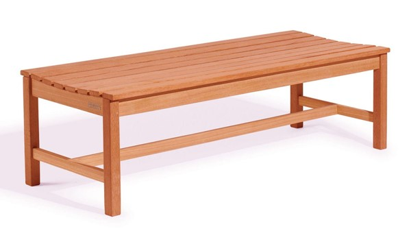 VIFAH Malibu Natural Wood Outdoor Patio 5 Foot Backless Garden Bench VFH-V025-1