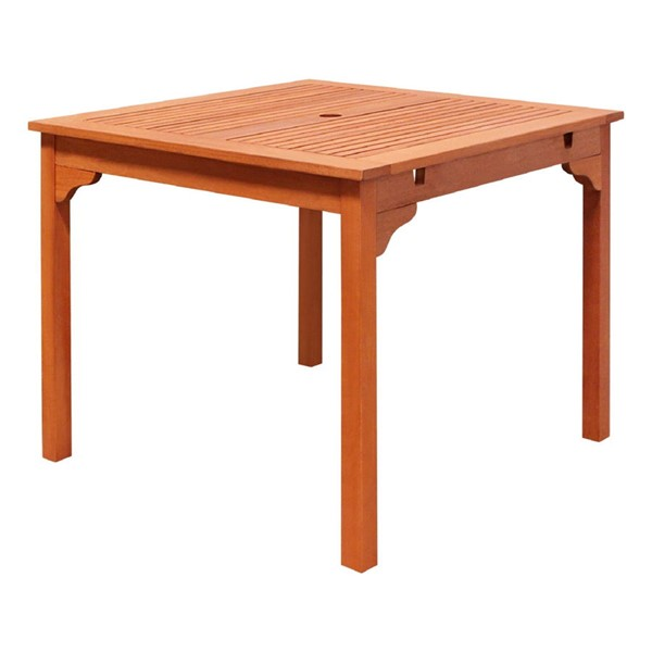 VIFAH Malibu Natural Wood Outdoor Stacking Table VFH-V1104