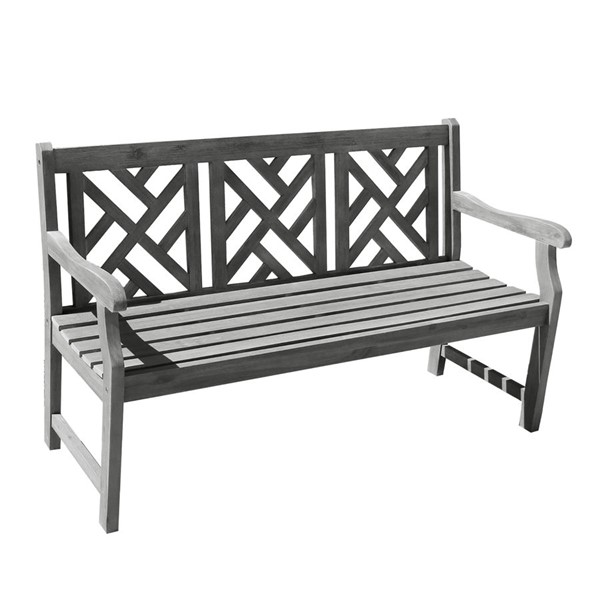 VIFAH Renaissance Hand Scraped Wood Outdoor Patio 5 Foot Garden Bench VFH-V1302