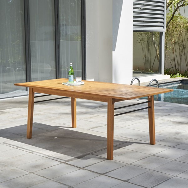 VIFAH Gloucester Natural Wood Patio Dining Table VFH-V1919