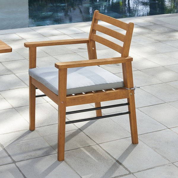 VIFAH Gloucester Natural Wood Patio Dining Chair VFH-V1920