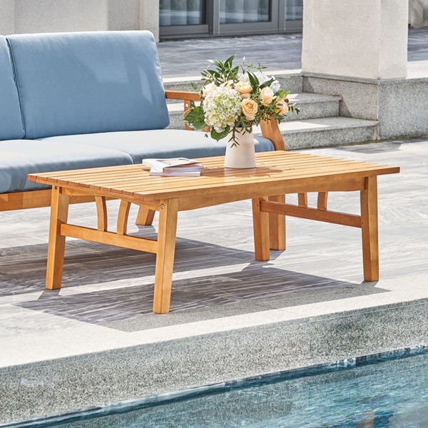 VIFAH Kapalua Honey Outdoor Sofa Table VFH-V1957