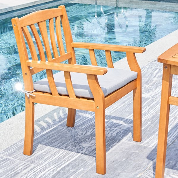 VIFAH Kapalua Honey Outdoor Dining Chair VFH-V1962