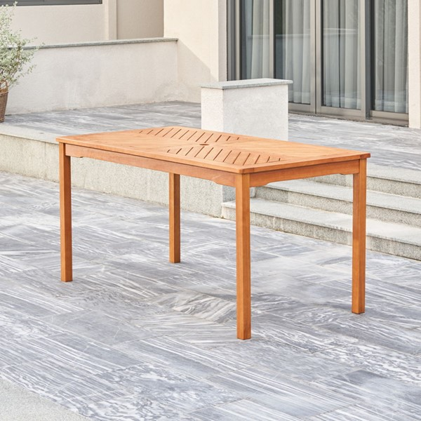 VIFAH Olina Honey Patio Dining Table VFH-V1964