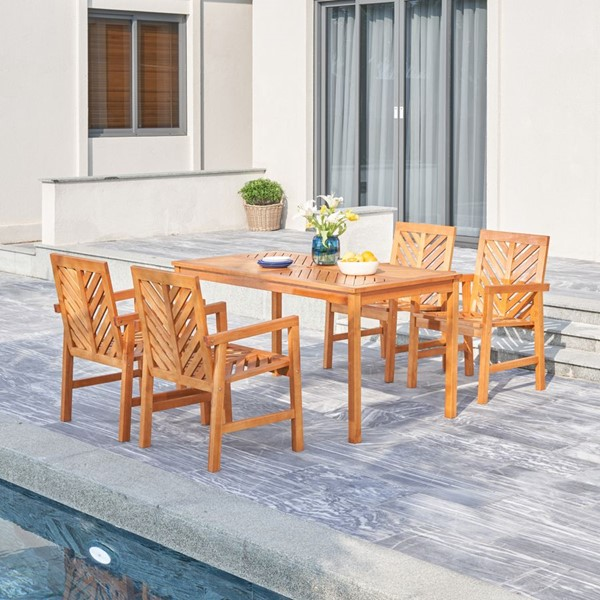 VIFAH Olina Honey Outdoor 5pc Dining Set VFH-V1964SET1