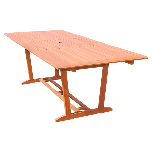 VIFAH Malibu Natural Wood Outdoor Rectangular Foldable Butterfly Extension Table VFH-V232