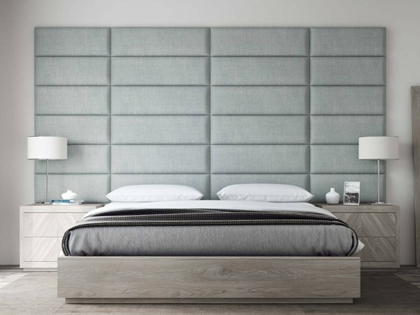 Vant Panels Cotton Weave Ash Gray King Wall Panels - 138 x 69 VNT-WDG3012-3912-K-13869