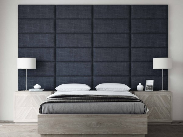 Vant Panels Cotton Weave Midnight Blue Queen or Full Wall Panels - 120 x 69 VNT-WDN3024-QF-12069