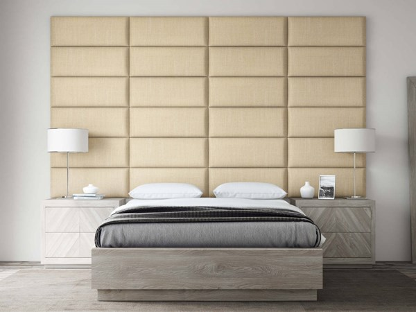 Vant Panels Cotton Weave Toasted Wheat Queen or Full Wall Panels - 120 x 69 VNT-WIV3024-QF-12069